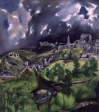 View of Toledo Wall Decal by El Greco