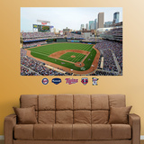 Minnesota Twins Target Field Stadium Mural   Wall Decal