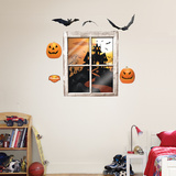 Halloween Haunted House Wall Decal
