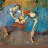 Two Dancers at Rest Wall Decal by Edgar Degas