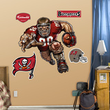 Tampa Bay Buccaneers Die Cut RB Liquid Blue Wall Decal