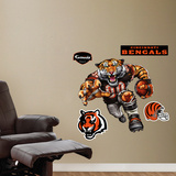 Cincinnati Bengals Die Cut RB Liquid Blue Wall Decal