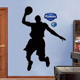 Basketball Player Silhouettes Wall Decal