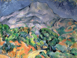 Mont Saint-Victoire Wall Decal by Paul Cézanne