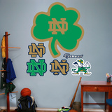 NCAA Notre Dame Green ND Logo Wall Decal Sticker Wallstickers