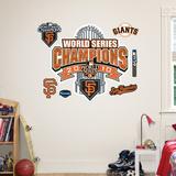 San Francisco Giants 2010 WS Locker Room Champions Logo Wall Decal