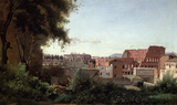 View of the Colosseum from the Farnese Gardens Wall Decal by Jean-Baptiste-Camille Corot