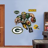 Green Bay Packers Die Cut RB Liquid Blue Wall Decal