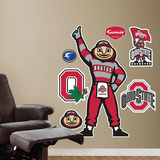 Brutus Buckeye Illustrated Mascot Wall Decal