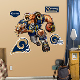St. Louis Rams Die Cut RB Liquid Blue Wall Decal