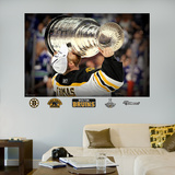 Tim Thomas Stanley Cup Kiss Mural Wall Decal