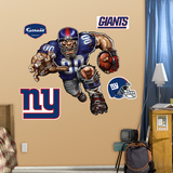 New York Giants Die Cut RB Liquid Blue Wall Decal