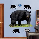 Ours noir Autocollant mural
