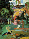 Matamoe, or Landscape with Peacocks Wall Decal by Paul Gauguin