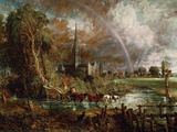 Salisbury Cathedral from the Meadows Wall Decal by John Constable