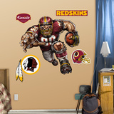Washington Redskins Die Cut RB Liquid Blue Wall Decal