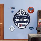 Uconn Women's 2010 National Championship Logo Wall Decal