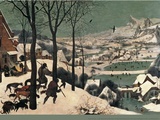 Hunters in the Snow Wall Decal by Pieter Bruegel