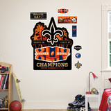 Superbowl 44 Champs Logo Saints Wall Decal