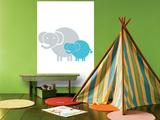 Aqua Baby Elephant Poster par  Avalisa