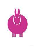 Fuschia Donkey Prints by  Avalisa