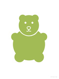 Green Bear Print by  Avalisa