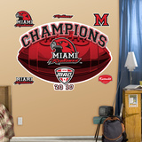 Miami Ohio 2010 MAC Champions Logo Wall Decal