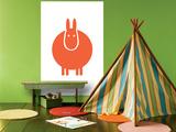 Orange Donkey Affiches par  Avalisa