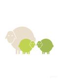 Lime Baby Sheep Print van  Avalisa