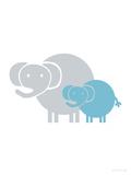 Aqua Baby Elephant Reproduction giclée Premium par  Avalisa