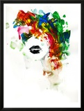 Black Lips Framed Giclee Print by Lora Zombie
