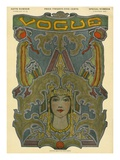 Vogue Cover - December 1907 Reproduction procédé giclée Premium par Artist