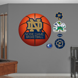University of Notre Dame Basketball Logo   Wall Decal