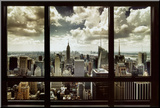 New York Window Mounted Print