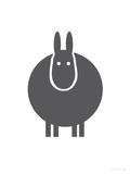 Charcoal Donkey Poster par  Avalisa