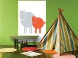 Orange Baby Horse Affiches par  Avalisa