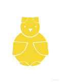 Yellow Owl Prints by  Avalisa