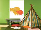Orange Baby Elephant Posters par  Avalisa