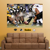 Steelers-Ravens Steam Line of Scrimmage Mural Vinilo decorativo