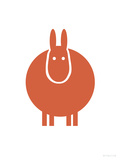 Orange Donkey Print by  Avalisa
