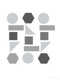 Gray Shapes Posters av  Avalisa