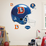 Denver Broncos Throwback Helmet Wall Decal