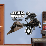 Storm Trooper/Speeder Bike Wall Decal