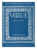 Vogue Cover - January 1907 Regular Giclee Print