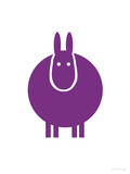 Purple Donkey Poster by  Avalisa