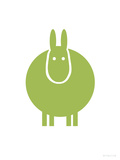 Green Donkey Prints by Avalisa 