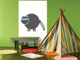 Charcoal Raccoon Affiches par  Avalisa