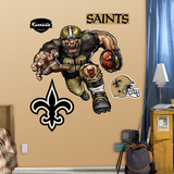 New Orleans Saints Die Cut RB Liquid Blue Wall Decal