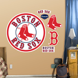 Boston Red Sox Alternate Logo Wall Decal