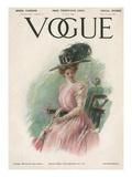 Vogue Cover - April 1908 Regular Giclee Print by Stuart Travis